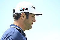 Jon Rahm (ESP) on the 11th tee during Round 3 of the Open de Espana 2018 at Centro Nacional de Golf on Saturday 14th April 2018.<br /> Picture:  Thos Caffrey / www.golffile.ie<br /> <br /> All photo usage must carry mandatory copyright credit (&copy; Golffile | Thos Caffrey)