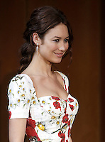 L'attrice e modella francese di origine ucraina Olga Kurylenko posa durante un photocall per la presentazione del 'La corrispondenza' a Roma, 11 gennaio 2016.<br /> Ukrainian-born French actress and model Olga Kurylenko poses during a photocall for the presentation of the movie 'La corrispondenza' ('Correspondence') in Rome, 11 January 2016.<br /> UPDATE IMAGES PRESS/Isabella Bonotto