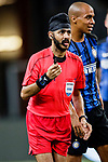 Fifa Referee Sukbhir Singh (L) gestures during the International Champions Cup 2017 match between FC Internazionale and Chelsea FC on July 29, 2017 in Singapore. Photo by Marcio Rodrigo Machado / Power Sport Images