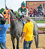 Mario Rodriguez aboard Silk n'Sequins winning at Delaware Park on 9/29/15