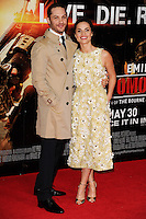 "Tom Hardy and Charlotte Riley arriving for the World premiere of ""Edge of Tomorrow"" at the IMAX London, the first of three premieres around the world for the film in one day. 28/05/2014 Picture by: Steve Vas / Featureflash"