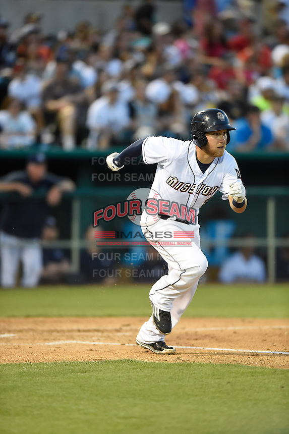 ***Temporary Unedited Reference File***San Antonio Missions third baseman Taylor Lindsey (8) during a game against the Midland RockHounds on April 22, 2016 at Nelson W. Wolff Municipal Stadium in San Antonio, Texas.  San Antonio defeated Midland 8-4.  (Mike Janes/Four Seam Images)