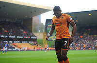 Wolverhampton Wanderers' Ivan Cavaleiro pulls up with an injury <br /> <br /> Photographer Ashley Crowden/CameraSport<br /> <br /> The EFL Sky Bet Championship - Wolverhampton Wanderers v Birmingham City - Sunday 15th April 2018 - Molineux - Wolverhampton<br /> <br /> World Copyright &copy; 2018 CameraSport. All rights reserved. 43 Linden Ave. Countesthorpe. Leicester. England. LE8 5PG - Tel: +44 (0) 116 277 4147 - admin@camerasport.com - www.camerasport.com
