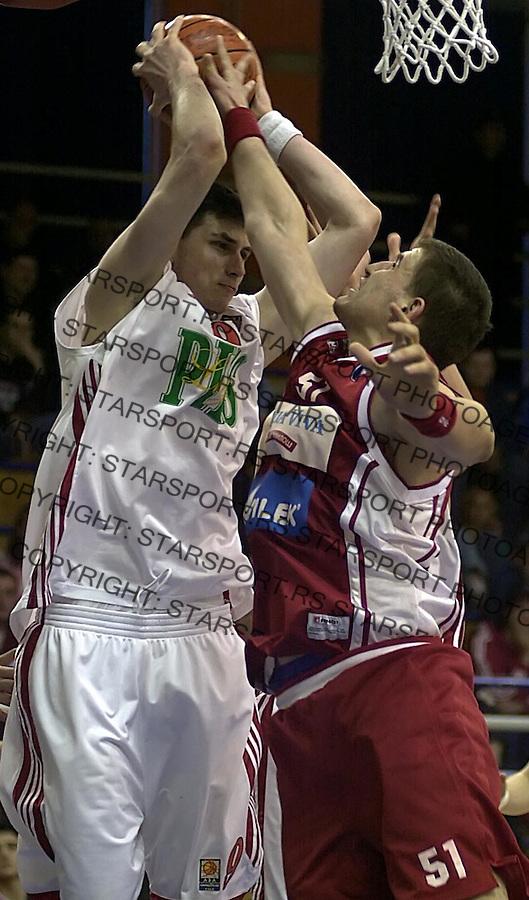 SPORT KOSARKA REFLEKS CRVENA ZVEZDA Mile Ilic i Vladan Vukosavljevic 7.5.2005. foto: Pedja Milosavljevic<br />