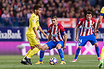 Jonathan Dos Santos of Villarreal CF (L) during the La Liga match between Atletico de Madrid vs Villarreal CF at the Estadio Vicente Calderon on 25 April 2017 in Madrid, Spain. Photo by Diego Gonzalez Souto / Power Sport Images