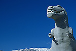 Roadside attraction, the worlds largest dinosaurs, Cabazon, California, west of Palm Springs, California State USA