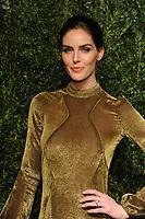 NEW YORK, NY - NOVEMBER 6: Hilary Rhoda at the 14th Annual CFDA Vogue Fashion Fund Gala at Weylin in Brooklyn, New York City on November 6, 2017. <br /> CAP/MPI/JP<br /> &copy;JP/MPI/Capital Pictures