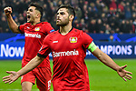 06.11.2019, BayArena, Leverkusen, GER, CL, Bayer 04 Leverkusen vs Atletico Madrid, UEFA regulations prohibit any use of photographs as image sequences and/or quasi-video <br /> <br /> im Bild Kevin Volland (#31, Bayer 04 Leverkusen) jubelt nach seinem Tor zum 2:0<br /> <br /> Foto © nordphoto/Mauelshagen