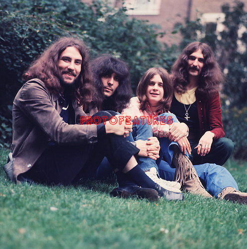 Black Sabbath 1970 Bill Ward, Tony Iommi, Ozzy Osbourne and Geezer Butler<br />