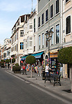Shops in Main Street, Gibraltar, British terroritory in southern Europe
