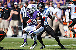 TCU Horned Frogs running back B.J. Catalon (23) in action during the game between the OSU Cowboys and the TCU Horned Frogs at the Amon G. Carter Stadium in Fort Worth, Texas. TCU defeated OSU 42 to 9.