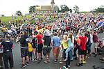 "Grand Depart - Tour de France 2014<br /> Yorkshire England.<br /> Second stage passes through ""Blubberhouses Moor""<br /> on the road from Harrogate<br /> Leaders pass through<br /> <br /> <br /> <br /> Pic by Gavin Rodgers/Pixel 8000 Ltd"