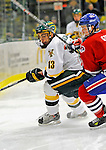 3 February 2008: University of Vermont Catamounts' forward Corey Carlson, a Junior from Two Harbors, MN, in action against the University of Massachusetts Lowell River Hawks at Gutterson Fieldhouse in Burlington, Vermont. The Catamounts defeated the River Hawks 3-2...Mandatory Photo Credit: Ed Wolfstein Photo
