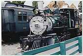 34/ fireman's-side view of D&amp;RGW #340 at Knott's Berry Farm.  RGS business car #B-20, &quot;Edna&quot;,  is partially visible in the background.<br /> D&amp;RGW  Buena Park, CA  Taken by Dorman, Richard L. - 8/13/2003