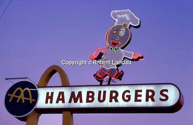 Sign for the original McDonalds in California