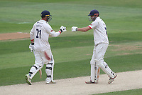 Tom Westley and Nick Browne of Essex during Essex CCC vs Yorkshire CCC, Specsavers County Championship Division 1 Cricket at The Cloudfm County Ground on 9th July 2019