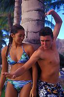 Teens on Waikiki beach