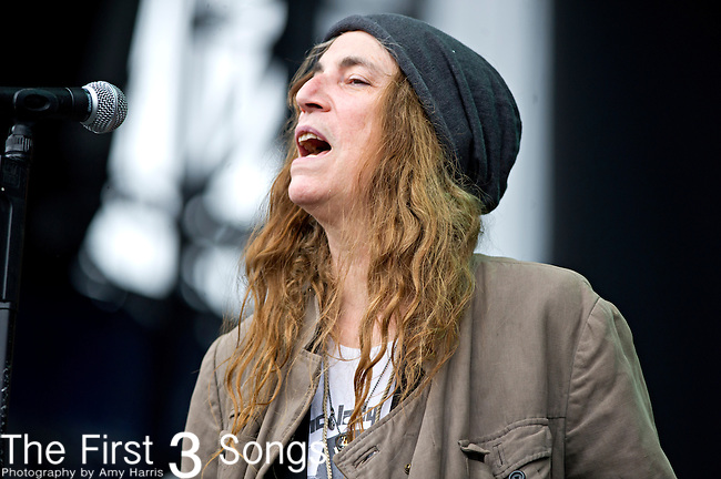 Patti Smith performs during the The Beale Street Music Festival in Memphis, Tennessee.