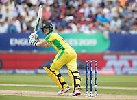 Steve Smith (Australia) clips off his pads to fine leg during Australia vs England, ICC World Cup Semi-Final Cricket at Edgbaston Stadium on 11th July 2019