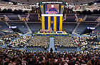 May 18, 2013; Daniel Akerson, GM chairman and chief executive officer, delivers the commencement address during the Mendoza College of Business Graduate degree ceremony at the Purcell Pavilion. Photo by Barbara Johnston/University of Notre Dame