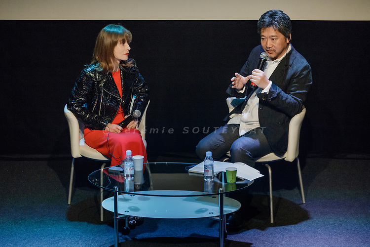 Tokyo, June 23 2017 - Women in Motion talk between Japanese director Hirokazu Koreeda and French actress Isabelle Huppert.