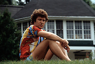 Saint-Sauveur, Canada - June 30, 1979. This photograph was taken of Robert Charlebois at his home in Saint-Sauveur, near Montreal. Robert Charlebois (born June 25, 1944) is a Quebec author, composer, musician, performer and actor. He is an important figure in French music and his best known songs include Lindberg and Je reviendrai à Montréal.