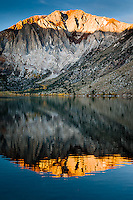 First light on the peaks of Convict Lake on an early spring day