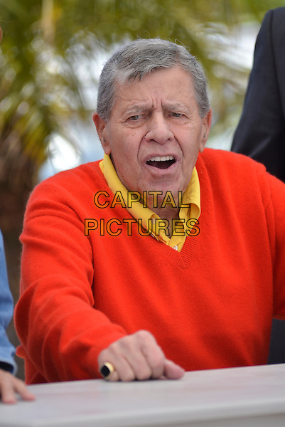 Jerry Lewis.'Max Rose' photocall during the 66th Cannes Film Festival, France 23rd May 2013.half length yellow shirt orange jumper sweater .CAP/PL.©Phil Loftus/Capital Pictures.