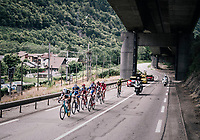 the breakaway group<br /> <br /> Stage 5: Grenoble > Valmorel (130km)<br /> 70th Critérium du Dauphiné 2018 (2.UWT)
