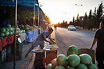 12/06/15. Shaqlawa, Iraq. -- In Seirmaidan area displaced people have built a makeshift market, where they sell mainly vegetable and fruit.