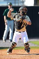 Central Florida Knights catcher Jordan Savinon (29) during a game against the Siena Saints at Jay Bergman Field on February 16, 2014 in Orlando, Florida.  UCF defeated Siena 9-6.  (Mike Janes/Four Seam Images)