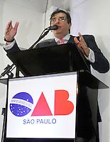 ATENCAO EDITOR: FOTO EMBARGADA PARA VEICULO INTERNACIONAL - SAO PAULO, SP, 10 DEZEMBRO 2012 - PRE-INAUGURACAO NOVO PREDIO OAB - O atual presidente Flavio D` Urso e o presidente comparecem ao evento que pre-inaugurou nessa terca o novo predio sede da OAB no centro historico de Sao Paulo na regiao central da capital nessa terca, 11. (FOTO: LEVY RIBEIRO / BRAZIL PHOTO PRESS)