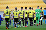 A League - Wellington Phoenix v Brisbane Roar FC at Westpac Stadium, Wellington, New Zealand on Sunday 25 March 2018.<br /> Photo by Masanori Udagawa. <br /> www.photowellington.photoshelter.com