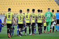 A League - Wellington Phoenix v Brisbane Roar FC at Westpac Stadium, Wellington, New Zealand on Sunday 25 March 2018.<br /> Photo by Masanori Udagawa. <br /> www.photowellington.photoshelter.com