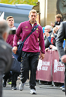 England captain Chris Robshaw and his team arrive at Twickenham prior to kickoff. QBE International match between England and Australia on November 2, 2013 at Twickenham Stadium in London, England. Photo by: Patrick Khachfe / Onside Images