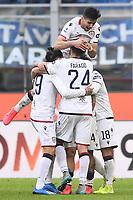 Radja Nainggolan of Cagliari celebrates with team mates after scoring the goal of 1-1 <br /> Milano 26/01/2020 Stadio San Siro <br /> Football Serie A 2019/2020 <br /> FC Internazionale - Cagliari <br /> Photo Image Sport / Insidefoto