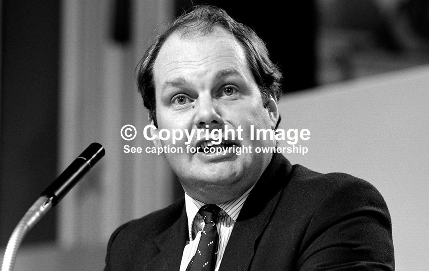 Roger Liddle, prominent member, SDP, Social Democratic Party, UK, 19840109RL3.<br /> <br /> Copyright Image from Victor Patterson, 54 Dorchester Park, Belfast, UK, BT9 6RJ<br /> <br /> t1: +44 28 9066 1296 (from Rep of Ireland 048 9066 1296)<br /> t2: +44 28 9002 2446 (from Rep of Ireland 048 9002 2446)<br /> m: +44 7802 353836<br /> <br /> e1: victorpatterson@me.com<br /> e2: victorpatterson@gmail.com<br /> <br /> The use of my copyright images is subject to my Terms &amp; Conditions.<br /> <br /> It is IMPORTANT that you familiarise yourself with them. They are available on my website at www.victorpatterson.com.<br /> <br /> None of my copyright images may be used on a website unless they are visibly watermarked, i.e. &copy; Victor Patterson within the body of the visible image. Metadata denoting my copyright must NOT be deleted. <br /> <br /> Web use is extra at currently recommended NUJ rates.