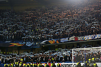 Malmo FF fans in stoppage time in the second half during Chelsea vs Malmo FF, UEFA Europa League Football at Stamford Bridge on 21st February 2019