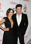 BEVERLY HILLS, CA- SEPTEMBER 13: TV personalities/dancers Karina Smirnoff (L) and Maksim Chmerkovskiy attend the Brent Shapiro Foundation for Alcohol and Drug Awareness' annual 'Summer Spectacular Under The Stars' at a private residence on September 13, 2014 in Beverly Hills, California.