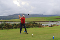 Fergus Rothwell (Westport) on the 15th tee during the Final of the Junior Cup in the AIG Cups & Shields Connacht Finals 2019 in Westport Golf Club, Westport, Co. Mayo on Thursday 8th August 2019.<br /> <br /> Picture:  Thos Caffrey / www.golffile.ie<br /> <br /> All photos usage must carry mandatory copyright credit (© Golffile | Thos Caffrey)