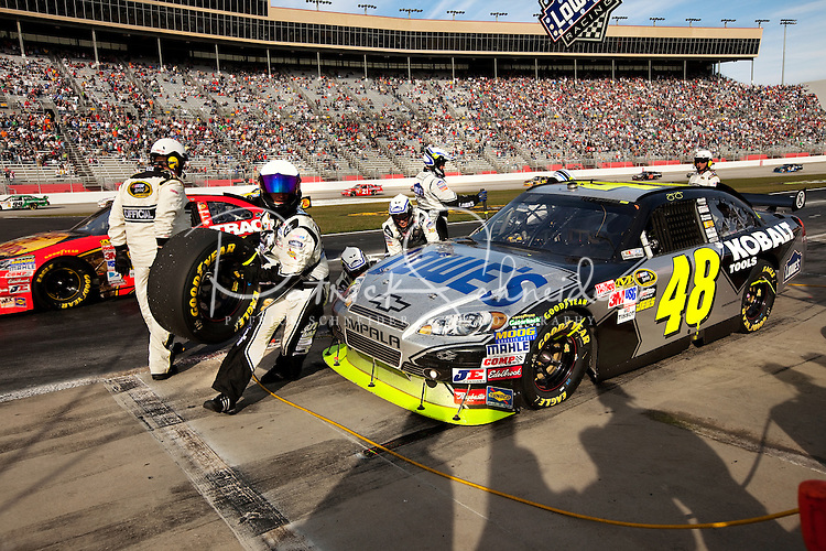 NASCAR Diver Jimmie Johnson coverage during the Kobalt Tools  500 race week, at Atlanta Motor Speedway in Atlanta, Ga.