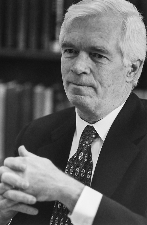 Close-up of Sen. Thad Cochran, R-Miss. 1995 (Photo by Laura Patterson/CQ Roll Call via Getty Images)