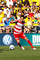 28 AUGUST 2010:  FC Dallas' Eric Avila (12) during MLS soccer game between FC Dallas vs Columbus Crew at Crew Stadium in Columbus, Ohio on August 28, 2010.
