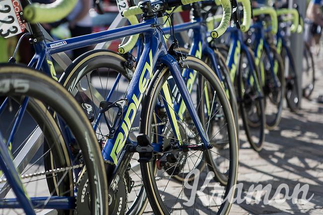 WB Aquaprotect Veranclassics bikes race ready.<br /> <br /> <br /> 82nd La Flèche Wallonne 2018<br /> 1 Day Race: Seraing - Huy (198,5km)