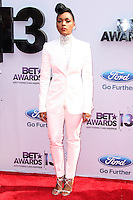 LOS ANGELES, CA - JUNE 30: Janelle Monae attends the 2013 BET Awards at Nokia Theatre L.A. Live on June 30, 2013 in Los Angeles, California. (Photo by Celebrity Monitor)