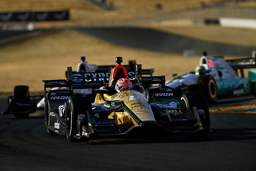 Verizon IndyCar Series<br /> GoPro Grand Prix of Sonoma<br /> Sonoma Raceway, Sonoma, CA USA<br /> Sunday 17 September 2017<br /> James Hinchcliffe, Schmidt Peterson Motorsports Honda<br /> World Copyright: Scott R LePage<br /> LAT Images<br /> ref: Digital Image lepage-170917-son-12460