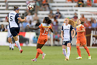 Houston, TX - Saturday July 15, 2017: Whitney Church and Nichelle Prince during a regular season National Women's Soccer League (NWSL) match between the Houston Dash and the Washington Spirit at BBVA Compass Stadium.