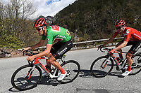 14th March 2020, Paris to Nice cycling tour, final day, stage 7;  BENOOT Tiesj (BEL) of TEAM SUNWEB with the green jersey in action during stage 7 of the 78th edition of the Paris - Nice cycling race, a stage of 166,5km with start in Nice and finish in Valdeblore La Colmiane on March 14, 2020 in Valdeblore La Colmiane, France
