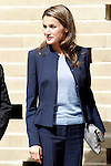 Princess Letizia of Spain visits the villages of Haro and San Millan de la Cogolla in La Rioja.May 14,2013. (ALTERPHOTOS/Acero)