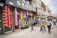 Local neighborhood color in Richmond Hill in the New York borough of Queens on Thursday, June 25, 2015. The neighborhood of Richmond Hill is a polyglot of ethnic cultures. It is home to Pakistanis, Indians, Guyanese and has a large Sikh population.  (© Richard B. Levine)